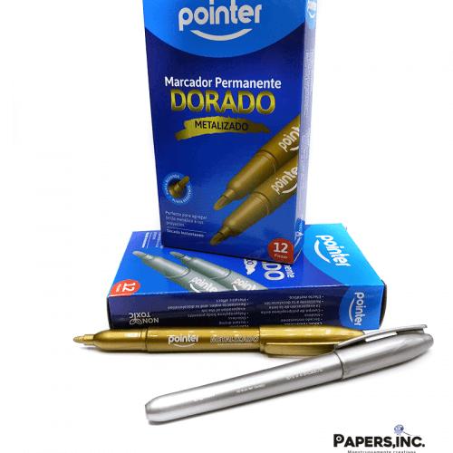 marcador pointer metalico
